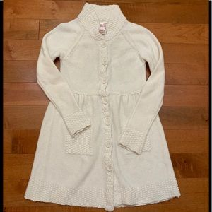 Mossimo knitted cream dress.
